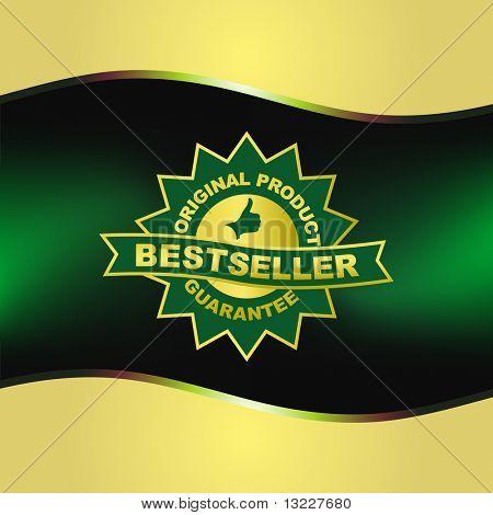 Bestseller emblem. Vector template.