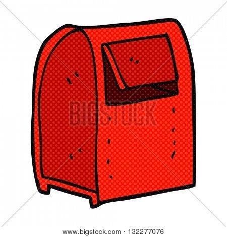 freehand drawn cartoon mailbox