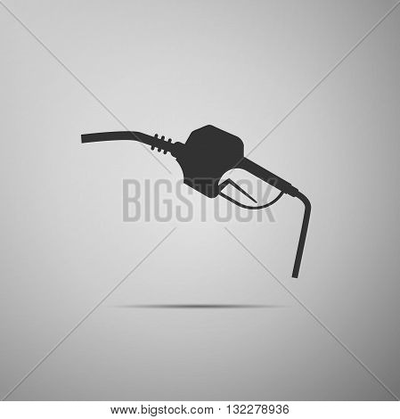 Gasoline pump nozzle sign. Gas station icon. Vector Illustration