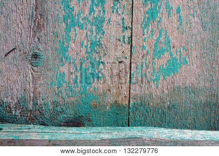 old used wooden farm green door background and texture