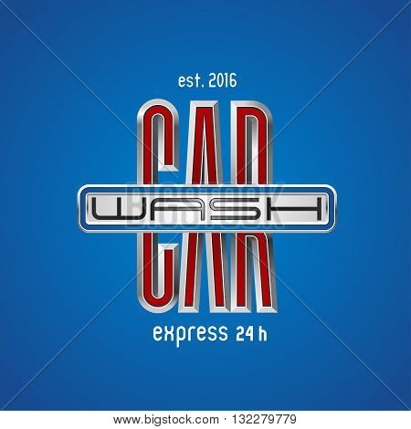 Car wash vector design element logo. Car washing concept