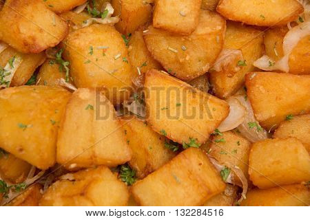 vegetarian cuisine appetizel a fried potato wedges