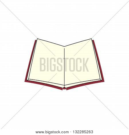 3D open book vector illustration isolated on white background.