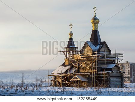Building of the temple in Norilsk Russian federation