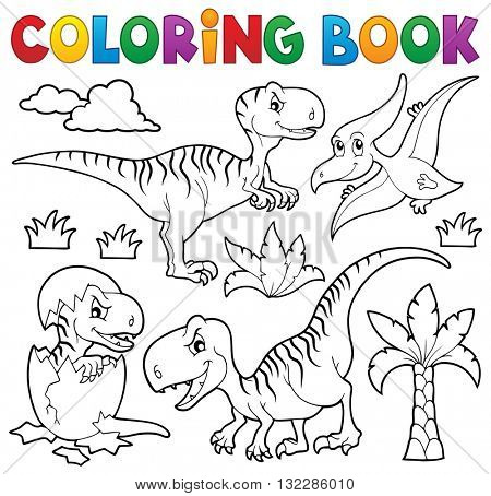 Coloring book dinosaur theme 8 - eps10 vector illustration.