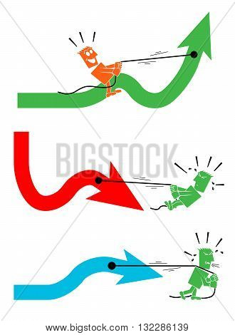 collection of arrows and people character person people vector