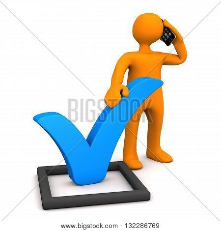 Manikin Blue Tick Smartphone