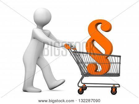 Manikin Shopping Cart Paragraph