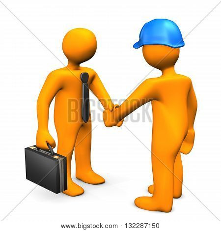 Businessman Worker Handshake