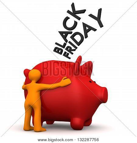 Manikin Black Friday Piggy Bank