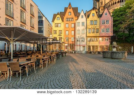 Colorful houses of Cologne. Cologne Germany .