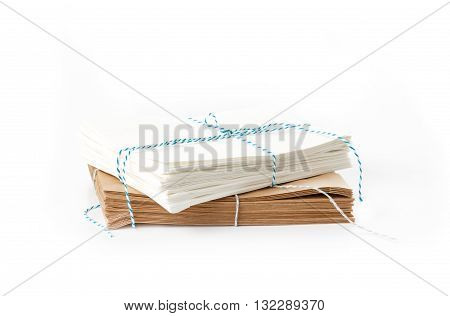 Stack Of White And Brown Paper Bags