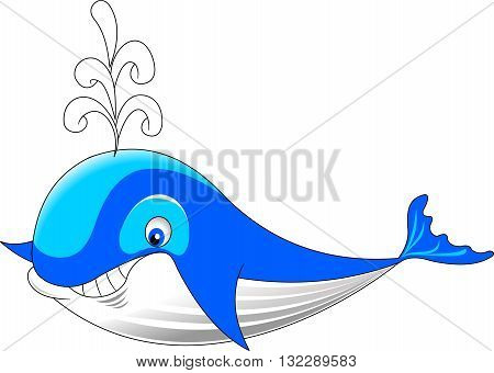 Hand draw whale sketch art. Cartoon whale. whale vector