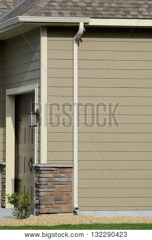 Downspout and Gutters on a Residential House