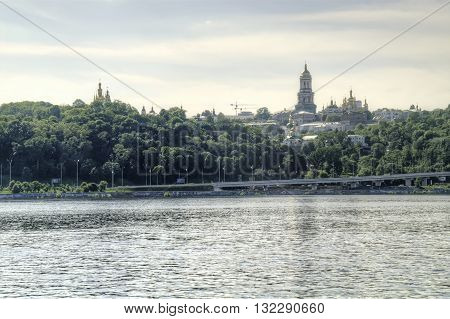 View of Kiev-Pechersk Lavra from the Dnieper River