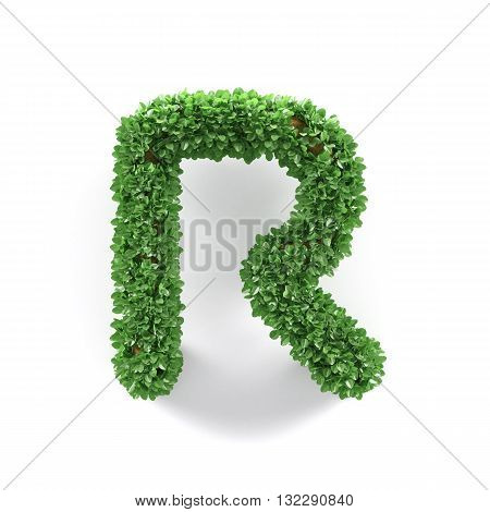 Green Leaves R Ecology Letter Alphabet Font