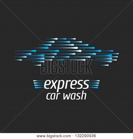 Car wash vector logo design element. Car washing concept
