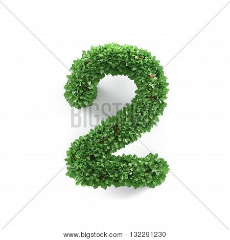 Green Leaves 2 Two Ecology Digits Alphabet Font