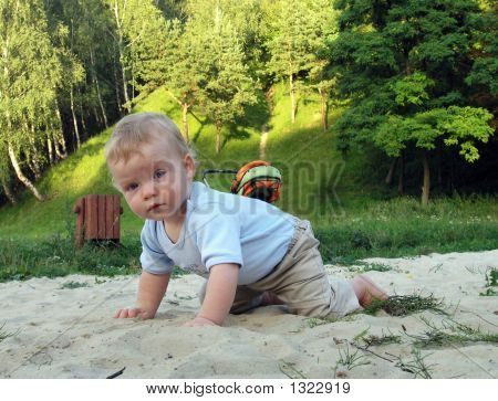 Boy In Sand Catcher