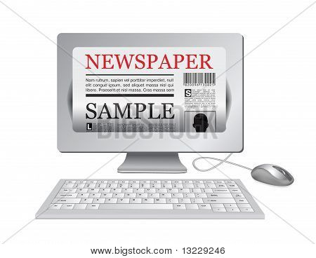 Online Newspaper.computer und News-Website