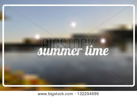 Hello Summer time vector illustration. Vector summer background. Vector hand lettering inspirational typography poster hello summer time. Summer fun. Summer fun quote.