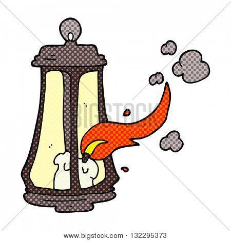 freehand drawn cartoon spooky lantern
