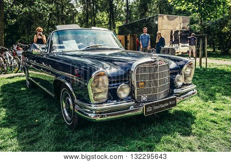 Warsaw Poland - August 2 2015: Mercedes W112 300SE from 1967 during retro cars show in Warsaw