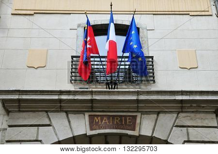 Lyon France - april 13 2016: the 5 th arrondissement town hall