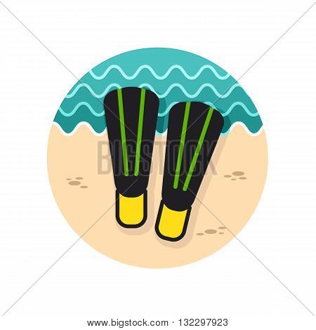 Flippers vector icon. Beach. Summer. Summertime. Vacation eps 10