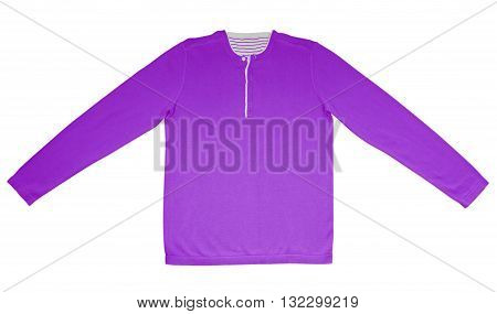 Warm Shirt With Long Sleeves - Purple