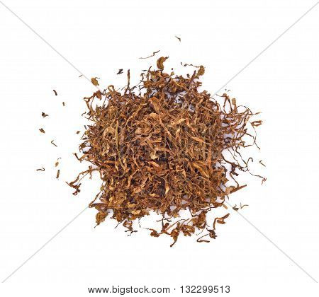 tobacco isolated on a white background leaf