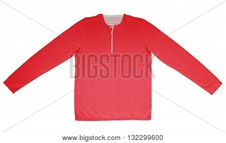 Warm Shirt With Long Sleeves - Red