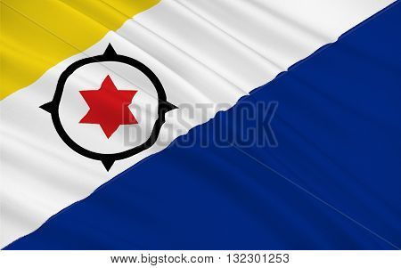 Flag of Bonaire is an island in the Leeward Antilles in the Caribbean Sea. Special municipality of the Netherlands.