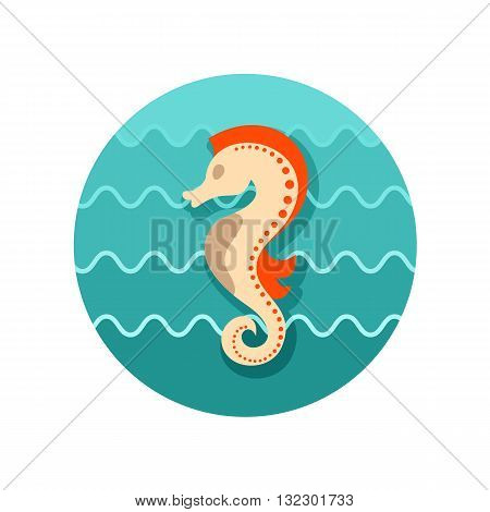 Sea Horse vector icon. Beach. Summer. Summertime. Vacation eps 10