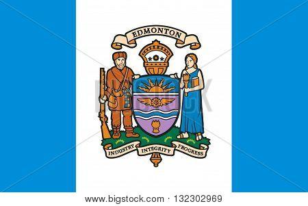 Flag of Edmonton is the capital of Alberta Canada
