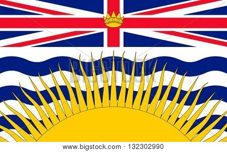Flag of British Columbia also commonly referred to by its initials BC is a province located on the west coast of Canada