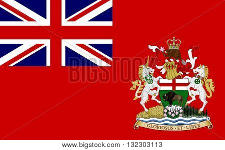Flag of Manitoba is a province located at the longitudinal centre of Canada