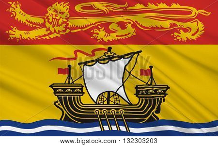 Flag of New Brunswick is one of Canada's three Maritime provinces and is the only constitutionally bilingual province