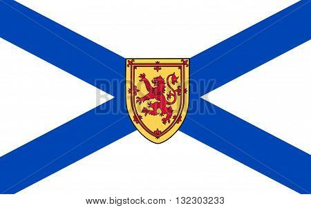 Flag of New Scotland is one of Canada's three Maritime provinces and one of the four provinces which form Atlantic Canada. Its provincial capital is Halifax