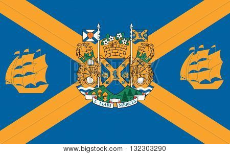 Flag of Halifax legally known as the Halifax Regional Municipality (HRM) is the capital of the province of Nova Scotia Canada