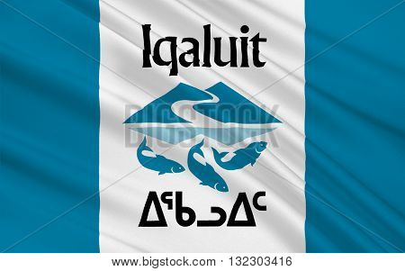 Flag of Iqaluit is the largest city and territorial capital of the Canadian territory of Nunavut