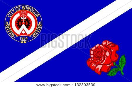 Flag of Windsor Ontario is the southernmost city in Canada