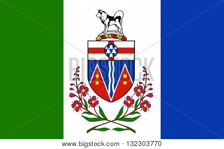Flag of Yukon is the westernmost and smallest of Canada's three federal territories. Whitehorse is the territorial capital and Yukon's only city