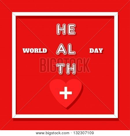 Vector world health day design concept. emplate for poster banner advertisement clear form creative card.