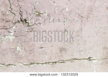 The grunge pink concrete old texture wall