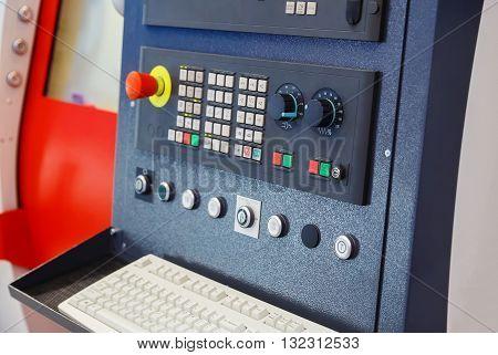 Machine control panel numerical control aperture blur focus