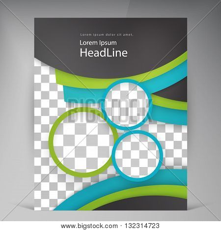 Abstract vector modern flyers brochure. Business brochure flyer design layout template in A4 circles