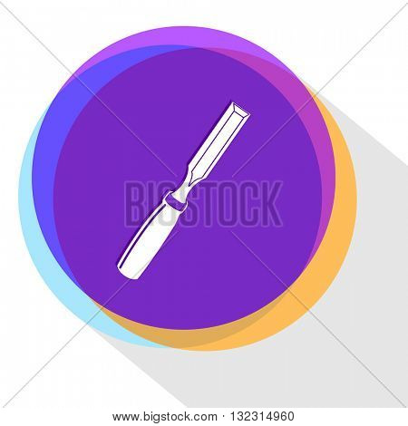 chisel. Internet template. Vector icon.
