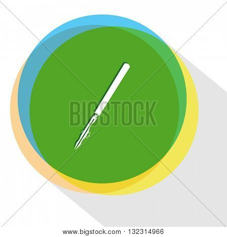 ruling pen. Internet template. Vector icon.