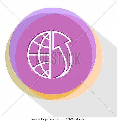 globe and array up. Internet template. Vector icon.